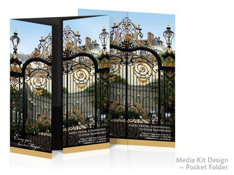 Print Design: Media kit gate fold pocket folder