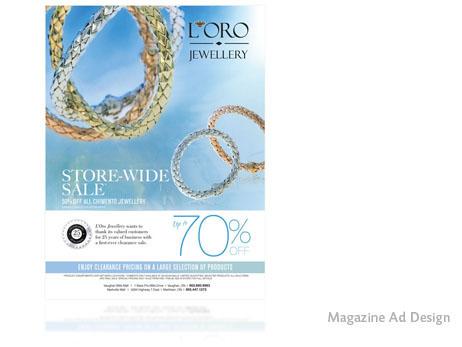 L'Oro Jewellery Magazine Ad Design | Print Design Store