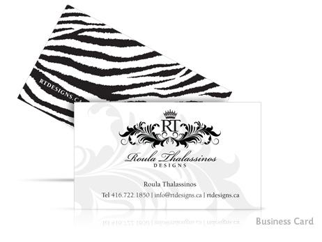 Print Design - Roula\'s Business Card