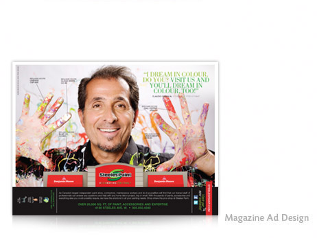 Print Design - Steeles Paint Magazine Ad