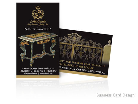 Print Design: Double sided business card