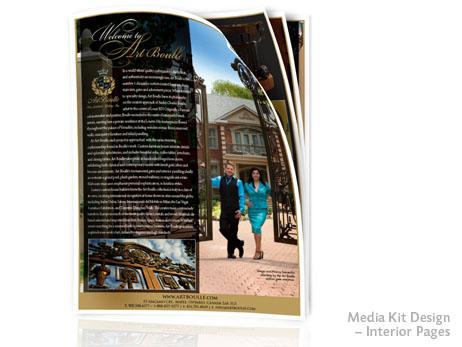 Print Design: Media kit pages