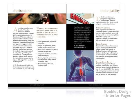 Print Design - Promotional Booklet Inside Pages
