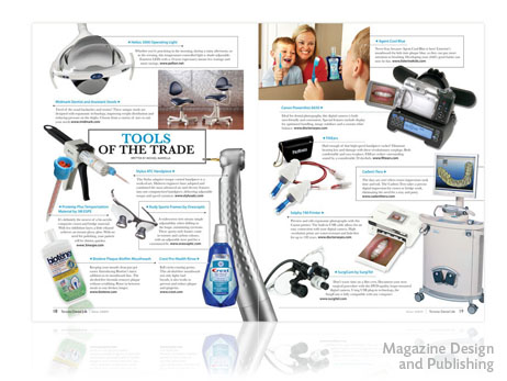 Print Design - Toronto Dental Life magazine page layout