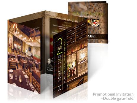 Print Design - Double gate-fold invitation