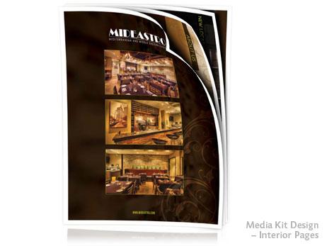 Print Design - Media kit pages