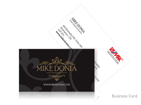 This business card design was one piece of the puzzle, and features an attractive font that has his name, position and contact information detailed in a clear and concise manner. The reverse boldly displays his sophisticated new logo, adding a level of prominence to his highly successful business.