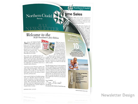 Print Design - Newsletter design and production