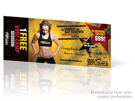 Print Design - Promotional flyer with coupon