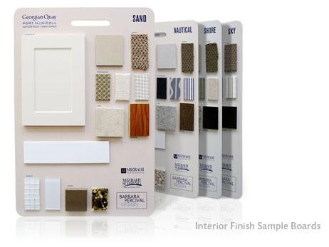 Print Design - Interior finish sample boards