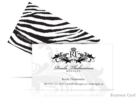 Print Design - Roula\'s Business Card